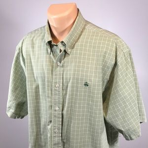 Brooks Brothers XL Men's Shirt Golden Fleece Green